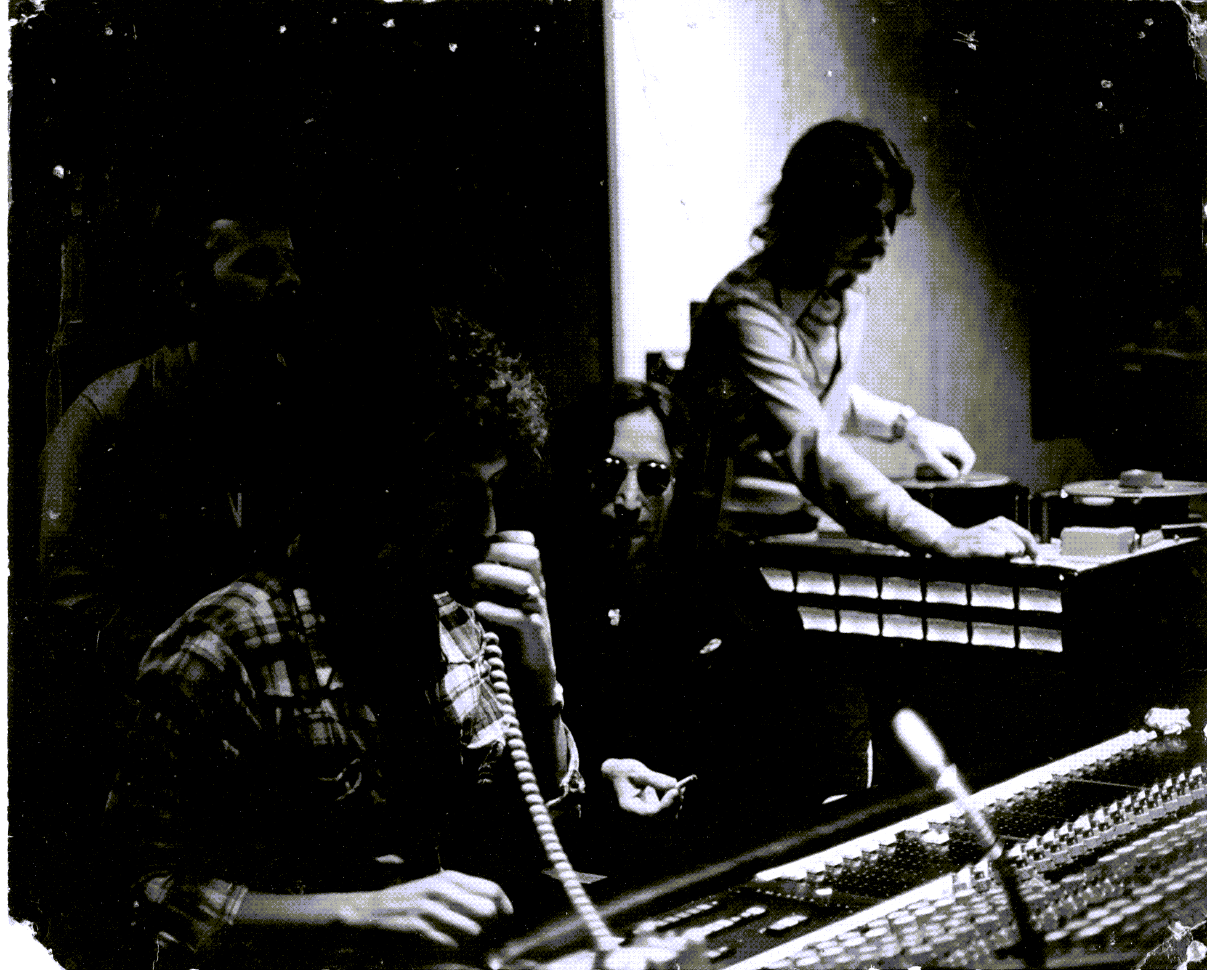 Rare unseen John Lennon picture at at Sunset Sound Studios, Hollywood, CA in the summer of 1974.