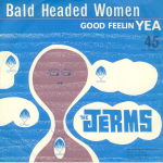 """The Jerms 45 single cover for """"Bald Headed Woman"""" released by The Jerms 1964."""