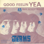 """The Jerms 45 single cover for """"Good Feelin Yea"""" released by The Jerms in 1964."""