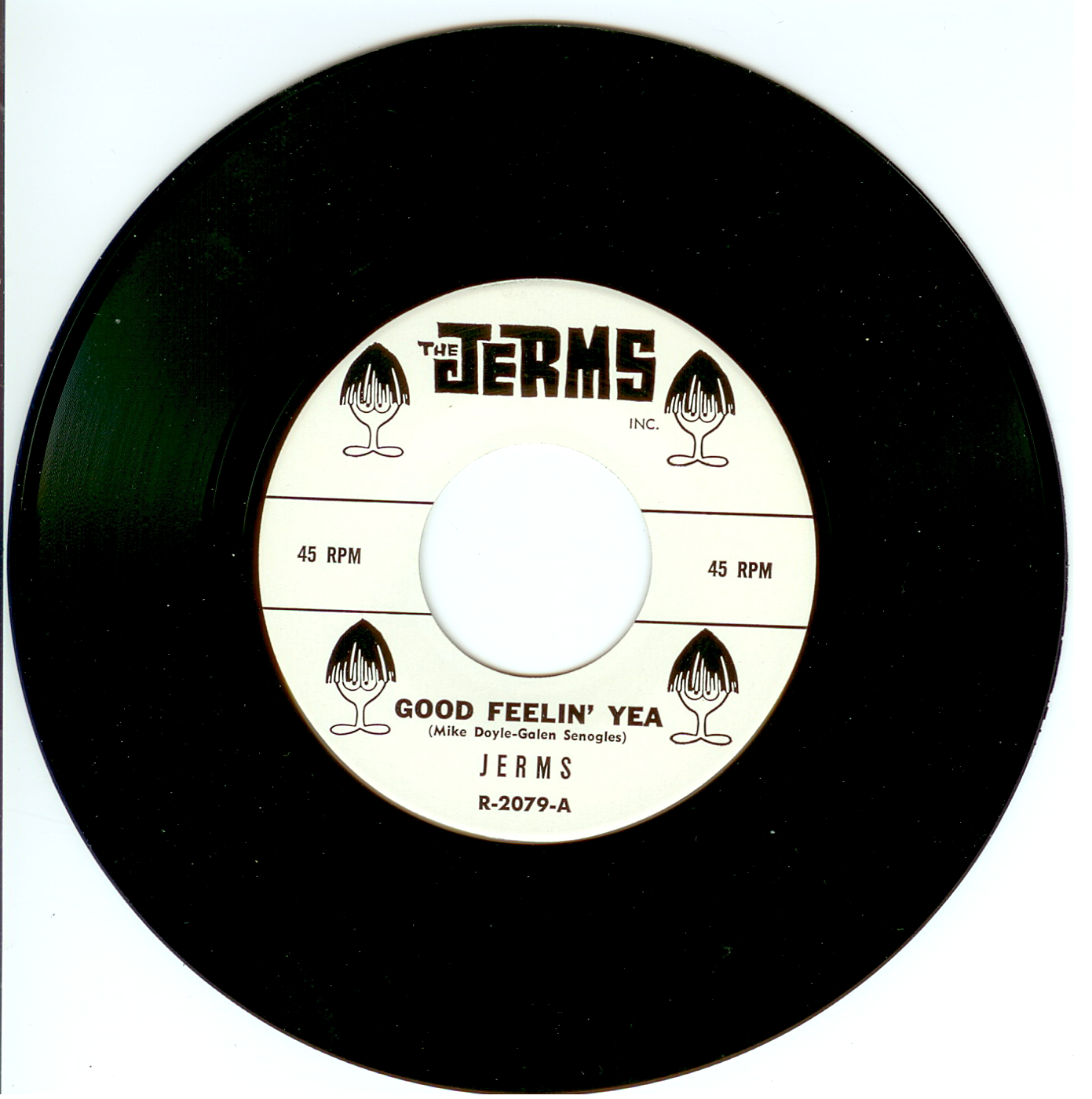 """The Jerms 45 single """"Good Feelin' Yea"""" released by The Jerms 1964."""