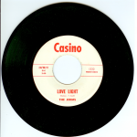 "The Jerms 45 single ""Love Light"" released by Casino Records 1966."