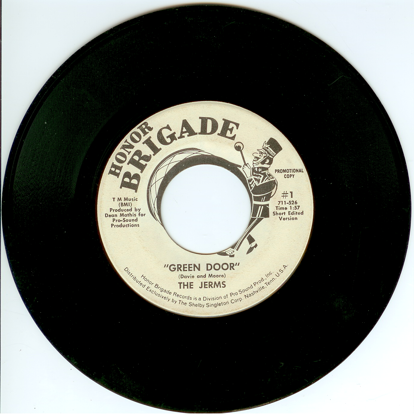 "The Jerms 45 single ""Green Door"" short edited version 1967."
