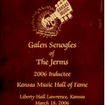 Galen Senogles inducted into Kansas Hall Of Fame.