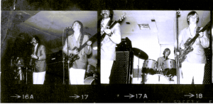 The Jerms live on stage in 1967 with Vox amps.