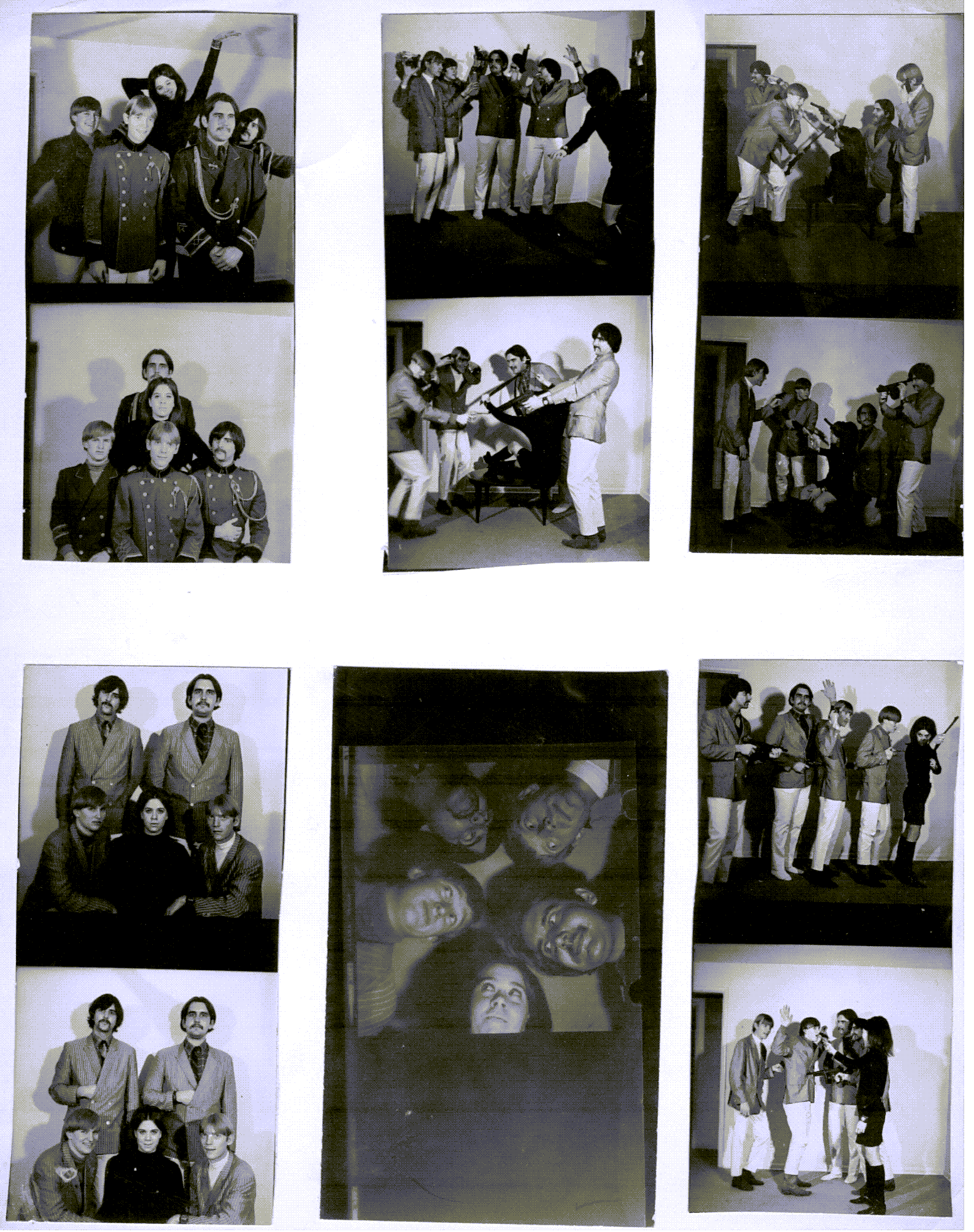 Proof sheet of The Jerms photo shoot 1967.